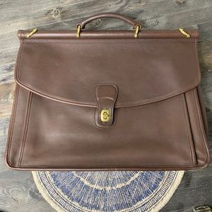 VTG Coach Leather Briefcase